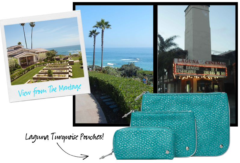 Laguna Beach, Montage, Laguna Turquoise Pouches, Stephanie Johnson copy
